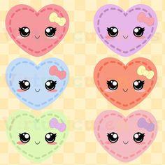 Korean Cute Heart Clipart.