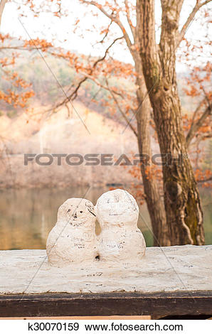 Stock Photograph of First Kiss figure from Korean drama Winter.