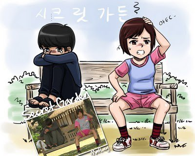 korean drama cartoon.