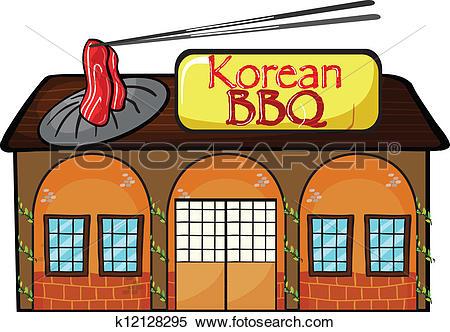 Clipart of A korean bbq shop k12128295.