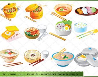 Korean lunch clipart.