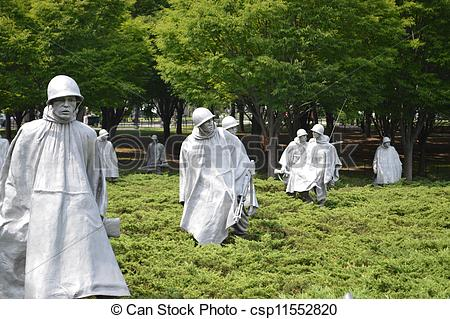 Stock Photo of Korean War Memorial in Washington DC csp11552820.