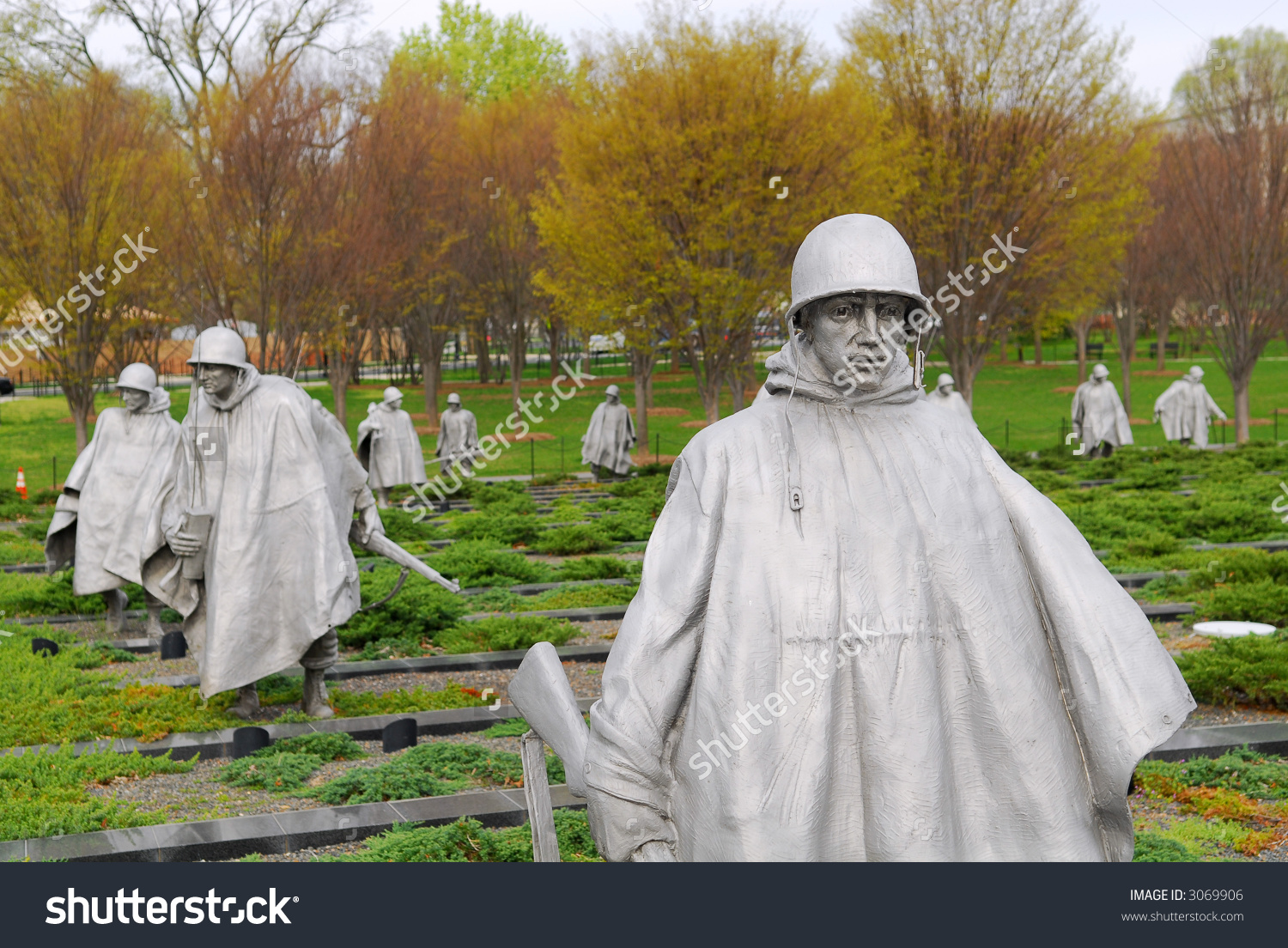 Monument Dedicated To The Us Soldiers Of The Korean War In.