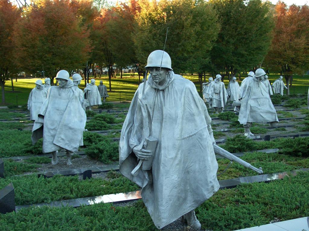 Korean War Veterans Memorial front view. A very moving memorial. I.