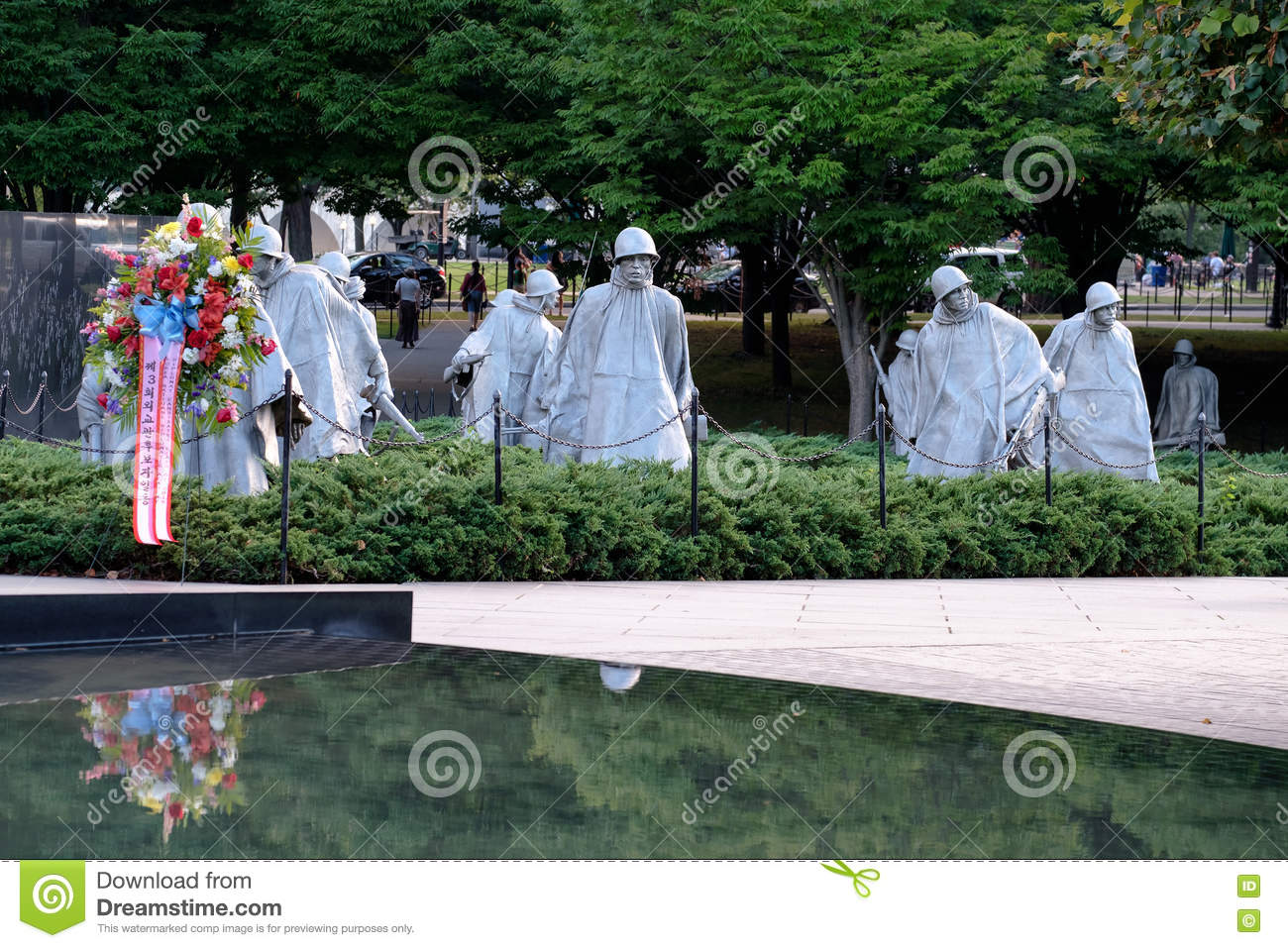 The Korean War Veterans Memorial In Washington D.C. Editorial.
