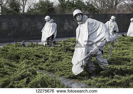 Stock Images of Korean Veterans Memorial; Washington, District of.