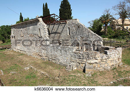 Stock Photo of Ruins Paleopolis Kerkyra Korfu k6636004.
