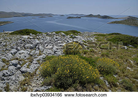 "Stock Images of ""View from Levrnaka island over the Kornati."