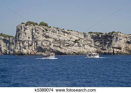 Stock Photo of Dugi Otok Cliff at Kornati Islands k5389074.