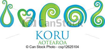 Vector Clipart of Koru.