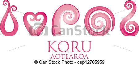 Vector Clip Art of Koru.