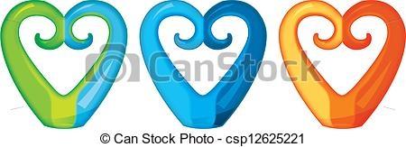 Koru Heart Clipart.