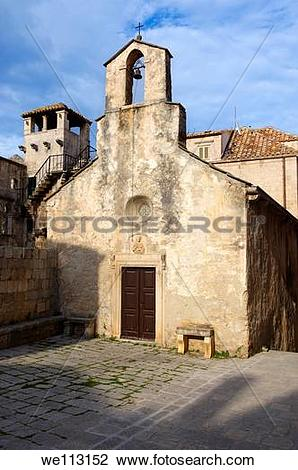 Stock Photo of Chapel off the ccathedral saquare Korcula Korcula.