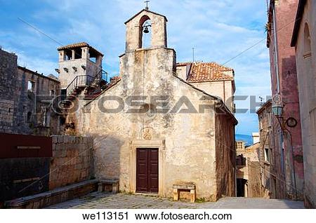 Stock Photography of Chapel off the ccathedral saquare Korcula.