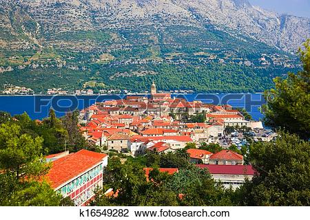 Stock Photo of Town Korcula in Croatia k16549282.