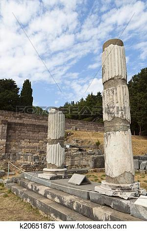 Stock Image of Asclepio at Kos island in Greece. k20651875.