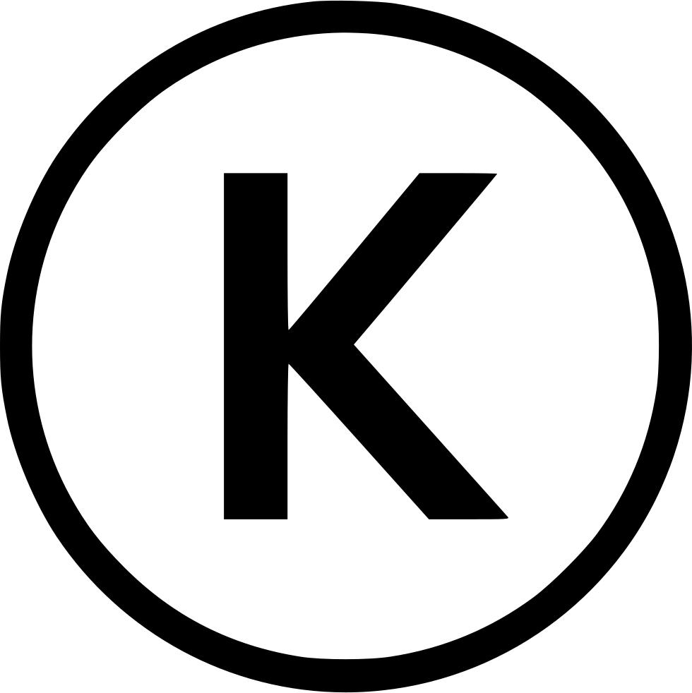 Kosher K Svg Png Icon Free Download (#480649).