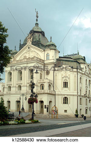 Stock Photography of Beautiful theater in Kosice, Slovakia.