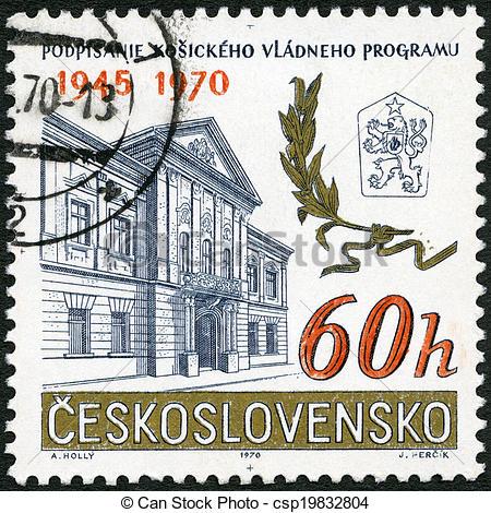 Stock Illustration of CZECHOSLOVAKIA.