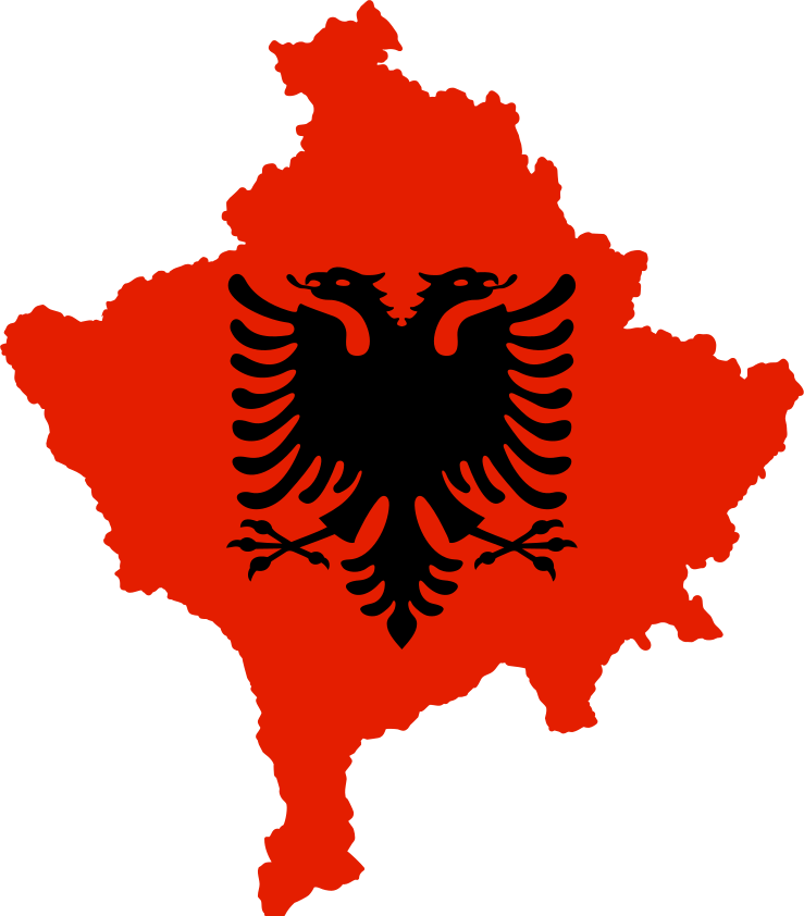 Kosovo flag.