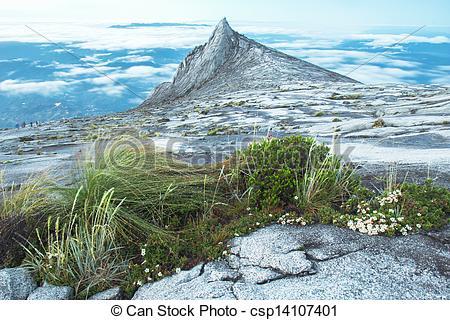 Stock Photography of Kinabalu Mountain Scenic Kota Kinabalu.