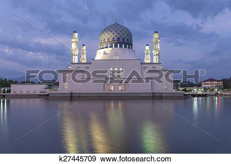 Stock Photograph of Masjid Bandaraya in Kota Kinabalu, Malaysia.