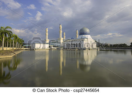 Stock Images of Masjid Bandaraya in Kota Kinabalu, Malaysia.