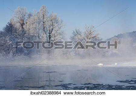 "Stock Photo of ""Altmuehl river near Kottingwoerth in winter."