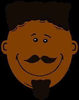 Black, Beard.