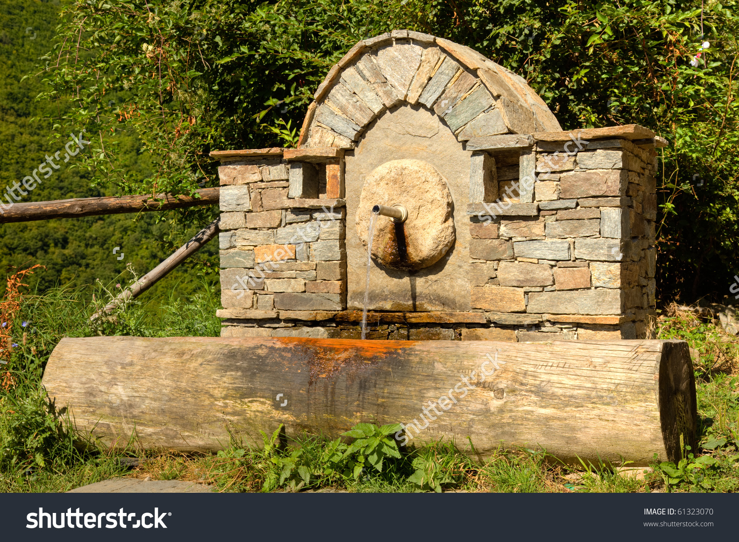 Ornate Water Fountain In The Old Village Of Kovachevitsa, Bulgaria.