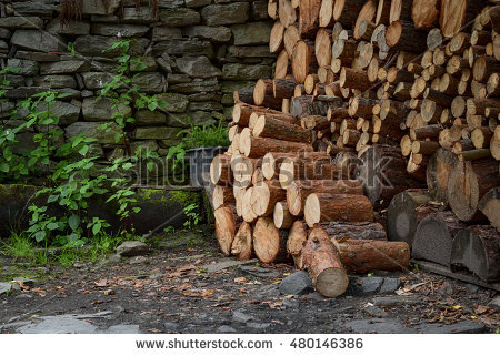 Chopped Firewood Stock Photos, Royalty.