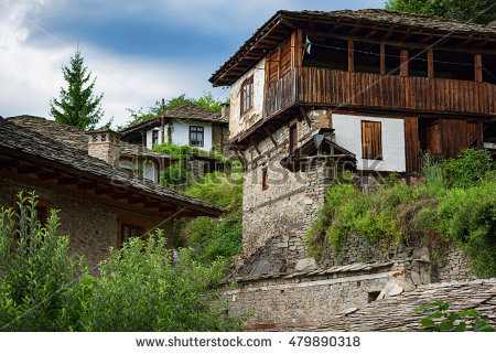 Old Houses Architecture Reserve Dolen Village Stock Photo 93775189.