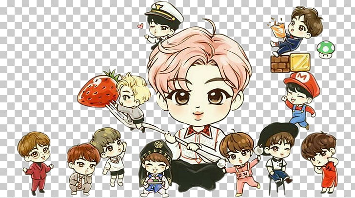 BTS Drawing Fan art Chibi K.