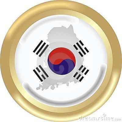Sign On South Korea Map Flag Royalty Free Stock Photos.