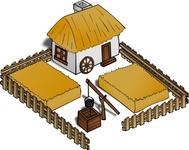 Egyptian house clipart.