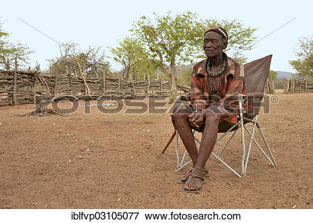 "Picture of ""Chief Hikuminue Kapika, chief of the Namibian Himba."