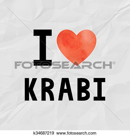 Stock Illustration of Love Krabi k34687219.