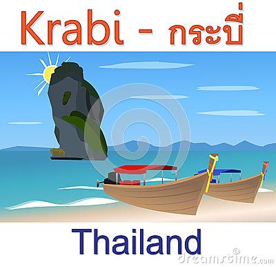 Krabi Stock Illustrations.