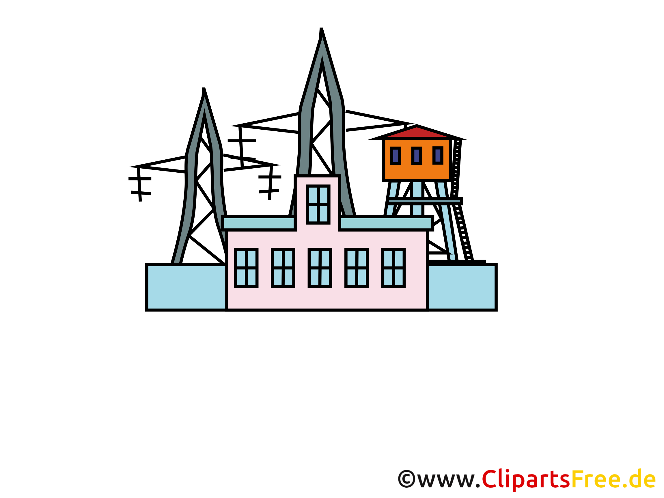 Strom, Kraftwerk Bild, Clipart, Grafik, Pic.