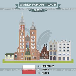 Square. Krakow, Poland.