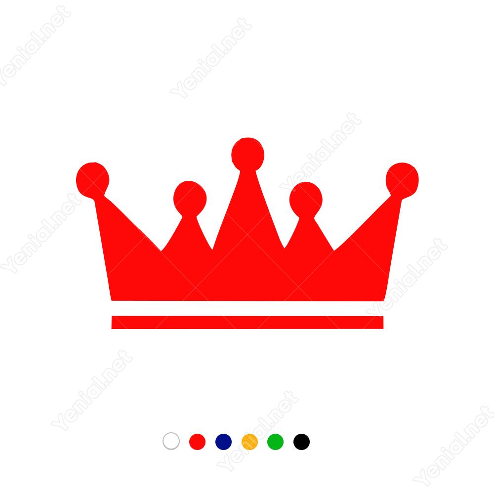 Kral Tacı Sticker Çıkartma.