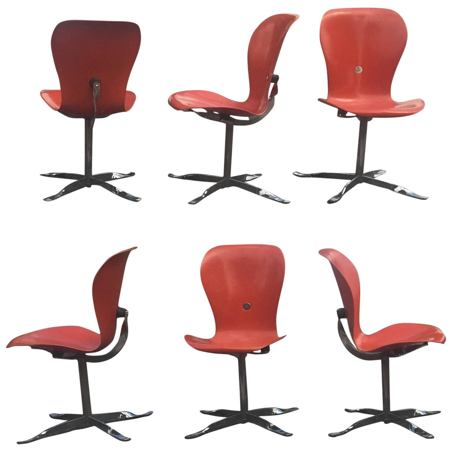 """Set of Six Gideon Kramer """"Ion"""" Chairs For Sale at 1stdibs."""