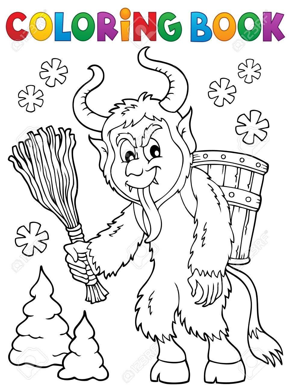 Coloring book Krampus theme 1.