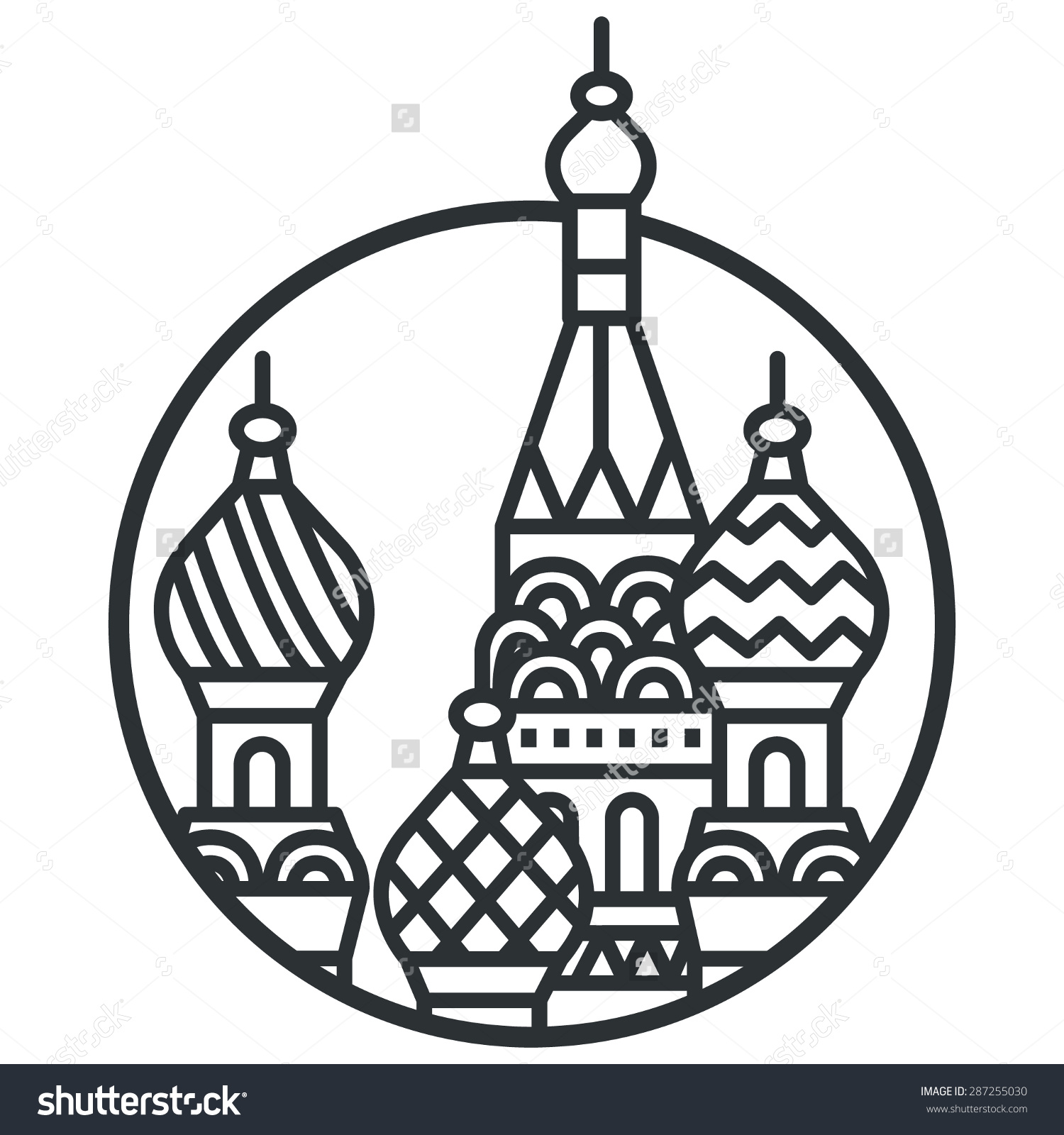 Kremlin Vector Line Icon Stock Vector 287255030.