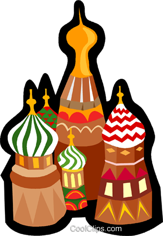 Kremlin Royalty Free Vector Clip Art illustration.