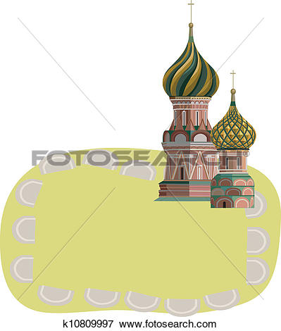 Clip Art of Kremlin Towers k10809997.