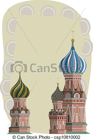 Vector Clipart of Kremlin Towers.