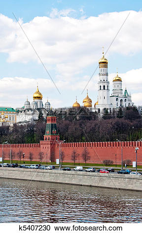 Stock Photography of Moscow Kremlin Wall k5407230.