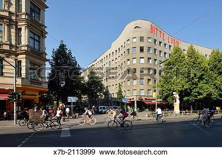 Stock Photograph of Berlin. Germany. Bonjour Tristesse building.