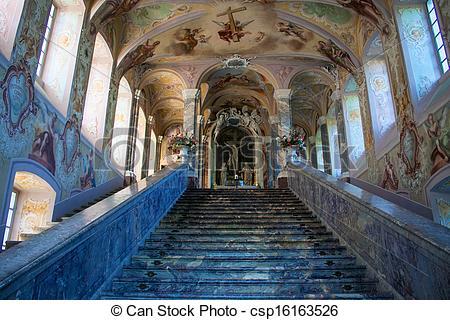 Stock Photo of Interior of Kreuzberg Church in Bonn, Germany.